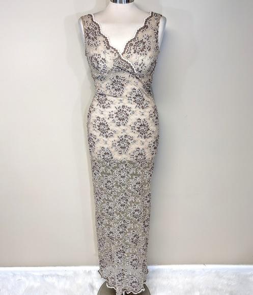 Vintage Dresses & Skirts - Stretch Lace Floral Dress